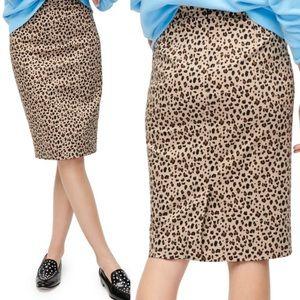 J. Crew Leopard No 2 Pencil Skirt